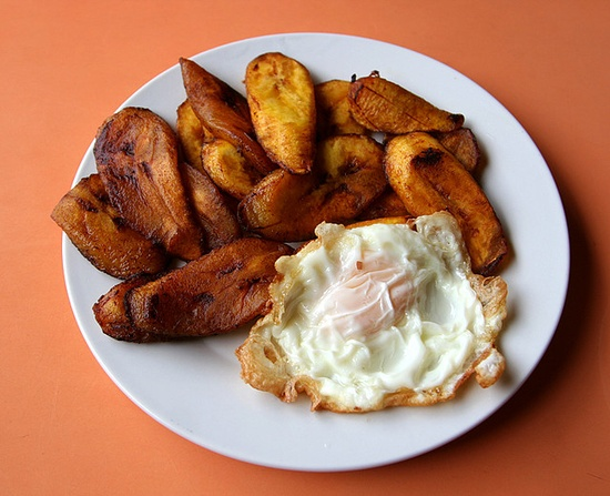 Best comfort food: plantains with fried egg