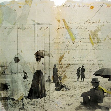 Heading For the Coast Mixed Media Collage by Scarlet_Beautiful, via Flickr