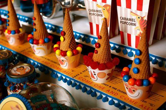 vintage circus themed birthday