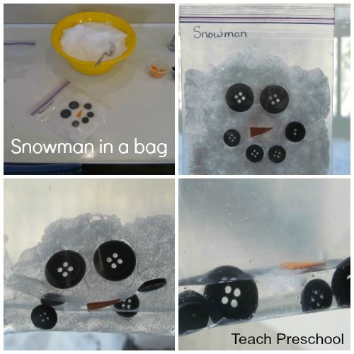Snowman in a Bag by Teach Preschool