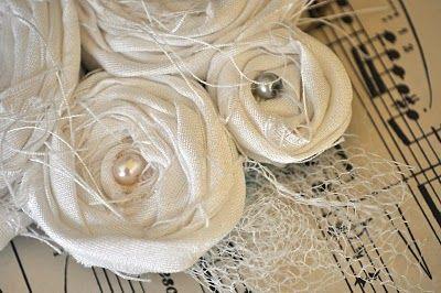 Fabric rosette tutorial