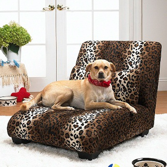 Enchanted Home Pet The Elliot Chaise In Leopard - He looks like the king