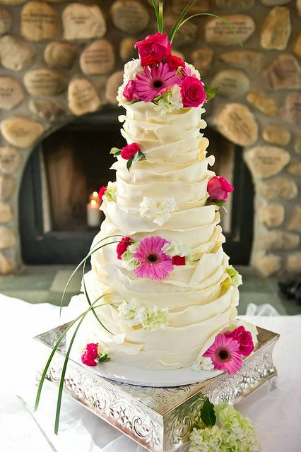 Wedding Cake Wrapped in White Chocolate