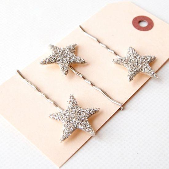 Tiny Starlette Sparkler Hair Pin Trio