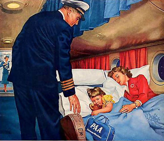 Oh how I wish airline travel was still this luxurious and comfortable. #1950s