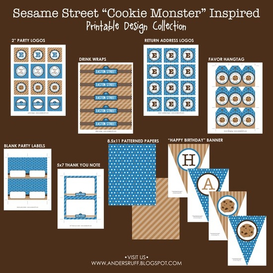 COOKIE MONSTER Inspired Birthday Party