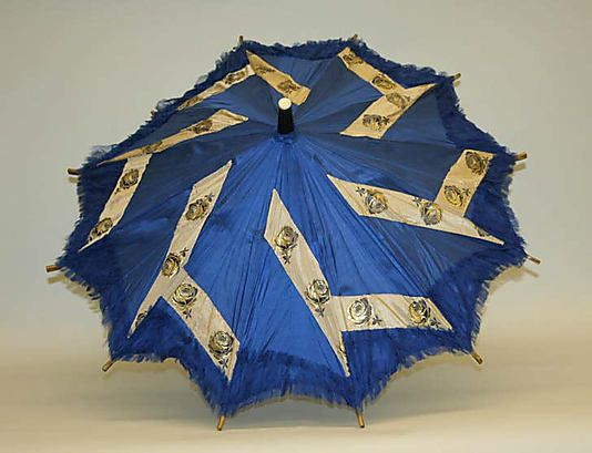 Parasol  Date: 1850s Culture: American Medium: wood, silk, ivory, leather, horn
