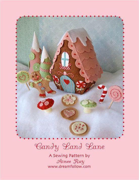 felt Candy Land Lane PDF pattern by littledear on Etsy, $5.00