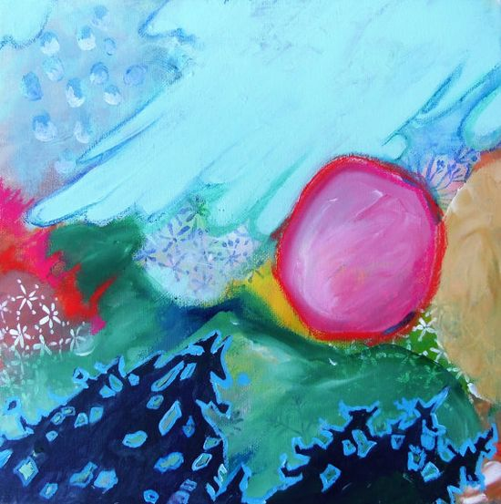 Abstract Painting Landscape Artwork on by kerriblackmanfineart, $45.00