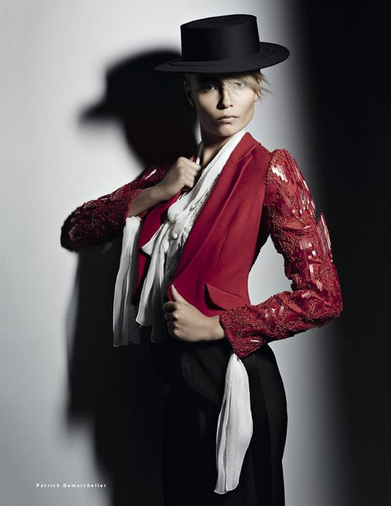 Patrick Demarchelier Snaps Natasha Poly As Bullfighter for Vogue Russia May2013 - 3 Sensual Fashion Editorials | Art Exhibits - Anne of Carversville Women's News