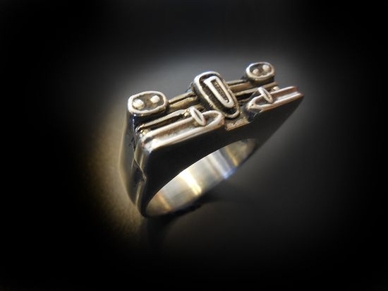 Edsel Ring by Hi Octane Jewelry #ring, #jewelry #edsel #mensring
