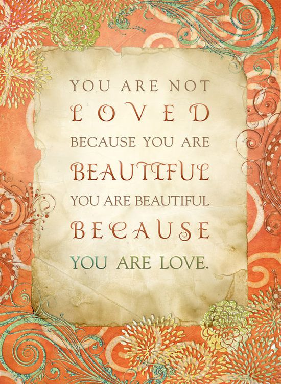 Beautiful Because You Are Love  8 x 10 Print  by mimiandboo, $18.00