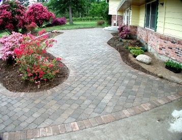 Pavers  and Flower Beds!