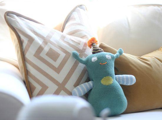 Jackson's nursery: pillows by Plum Cushion