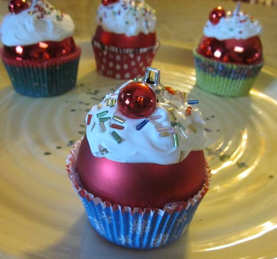 Cupcake christmas ornament @Ashley Bright