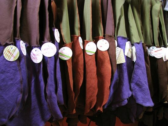 Down at the skirt factory linen skirts ... by Secret Lentil, via Flickr