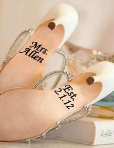 These Wedding Shoe Decals are Subtle and Sweet #shoes #footwear trendhunter.com