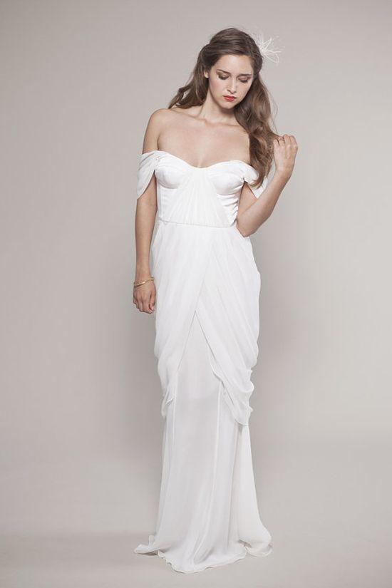 Romantic Chiffon Wedding Dress.