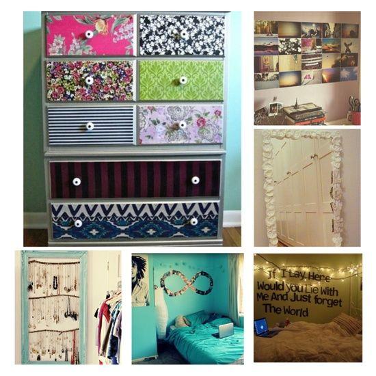 Cute DIY bedroom ideas:).