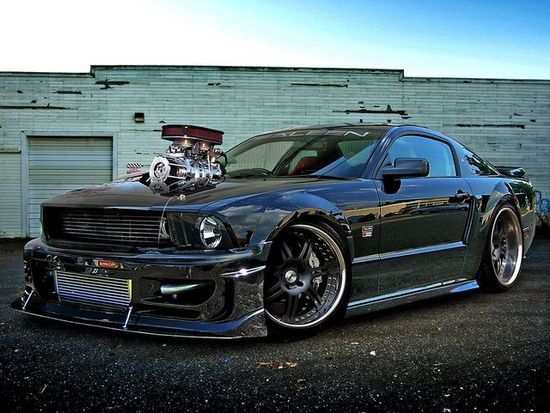 Supercharged Saleen Mustang. Awesome American Muscle Machine.