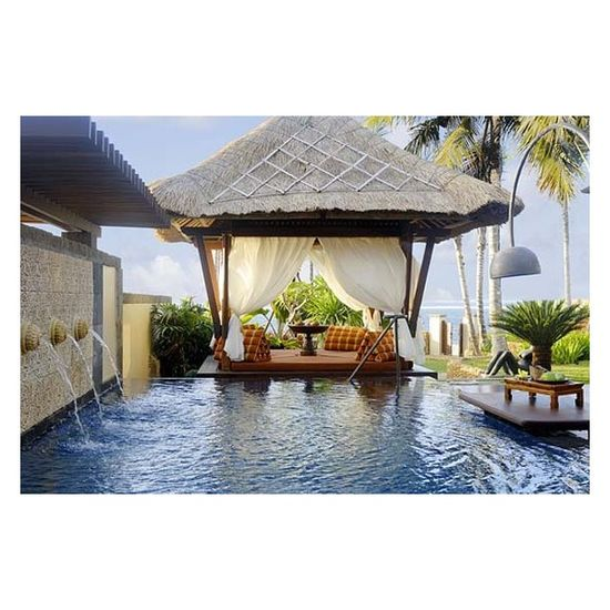 Beautiful Swimming Pool with Tropical Landscaping Ideas - Hotel Interior Design - Interior & Exterior Design found on Polyvore