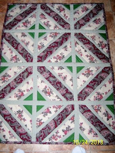 Handmade quilt #5, 32 x 42, cotton baby or lap