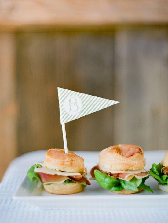 mini biscuit sandwiches