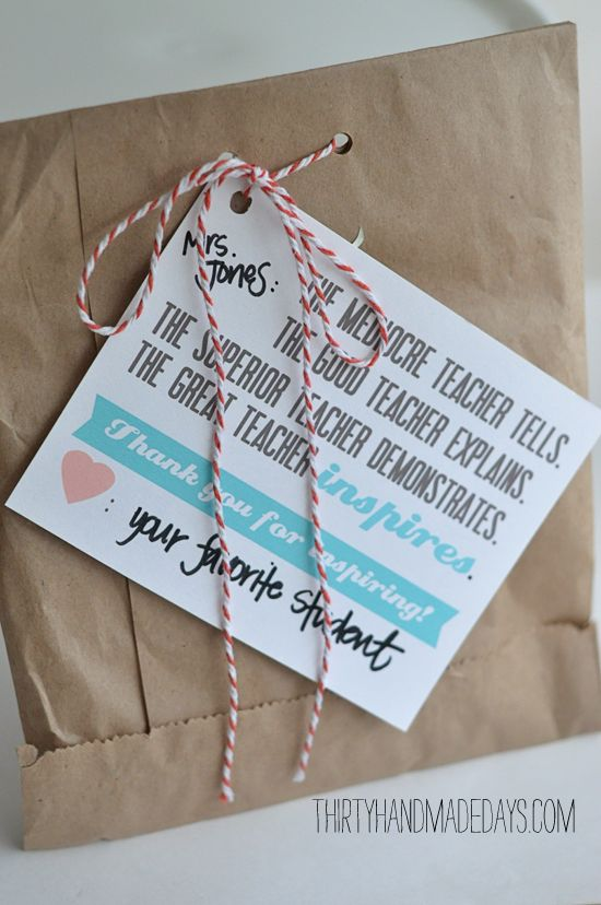 Teacher Appreciation: End of the Year GIfts by Syriana