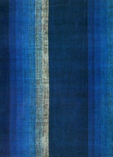Graduating shaded stripe textile, Plain weave cotton; Japan; end of Edo period, 1673-1750 by Knoxville Museum of Art,  #GISSLER #interiordesign