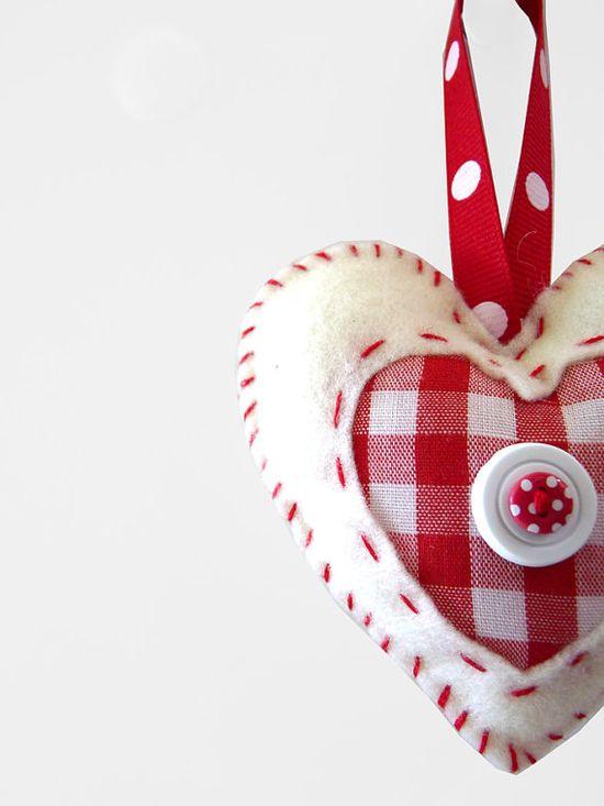 Felt and fabric heart