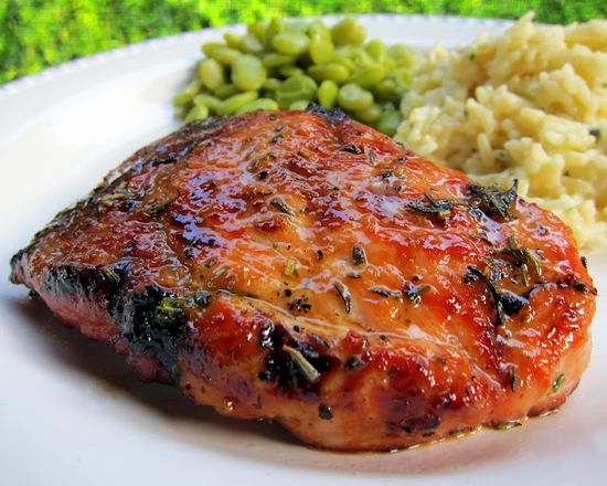 Simply Grilling - Honey Rosemary Pork Chops