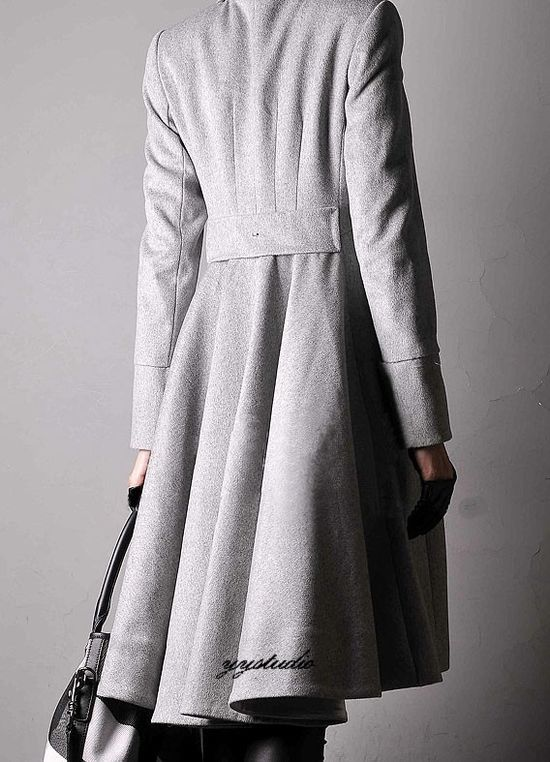 Wow... love this coat! #style #fashion #coat #winter #gray