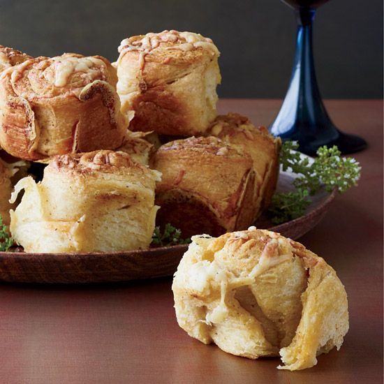 Parker House Rolls Topped with Cheddar and Old Bay // More Breads and Biscuits: www.foodandwine.c... #foodandwine