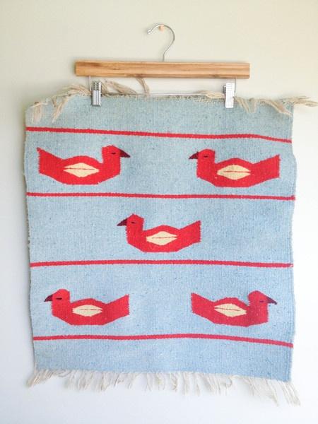 Small Vintage Handmade Rug
