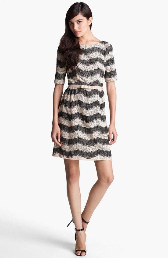 Lace stripes, so feminine & fun!