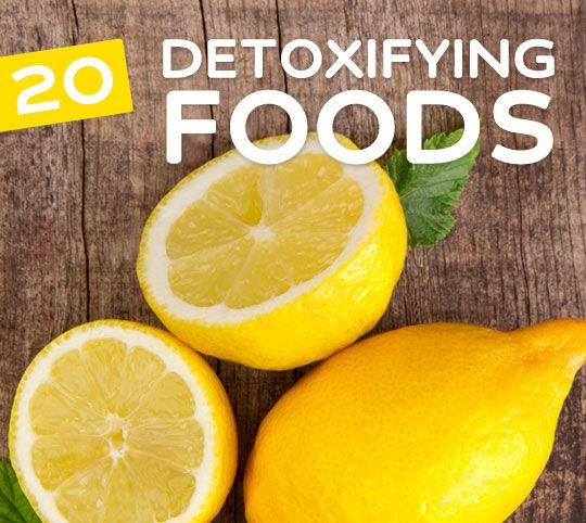 20 foods to detox your body & mind