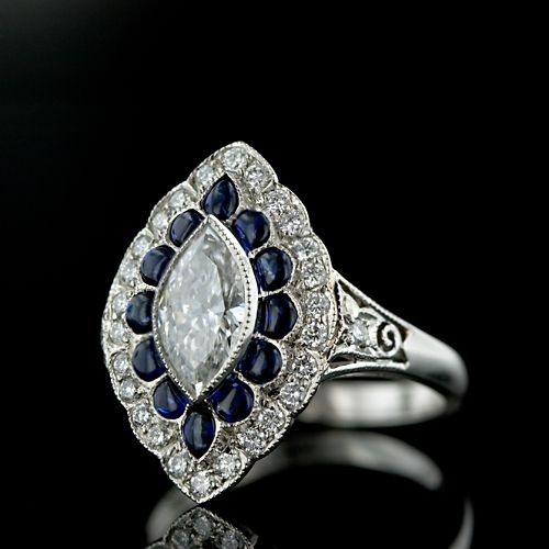 Art Deco Diamond Engagement Ring