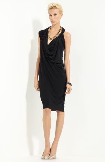 Lanvin Draped Techno Jersey Dress