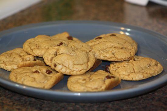 Gluten Free Peanut Butter Chocolate Chip Oatmeal Cookies on MyRecipeMagic.com