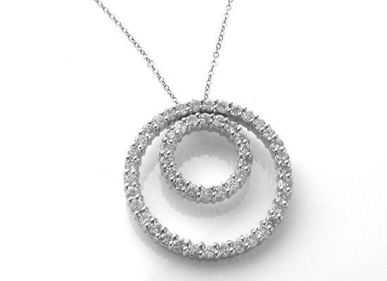 Double eternity diamond pendant