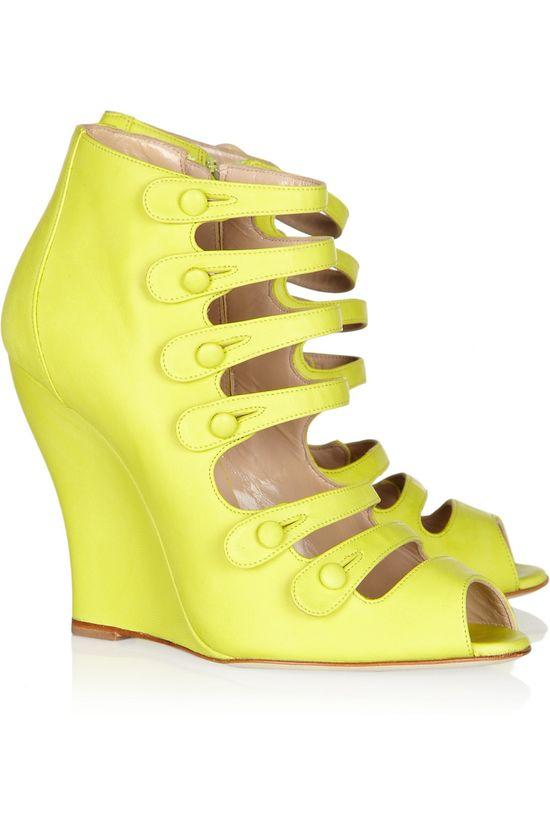 Oscar De La Renta wedge sandals - fabulous!