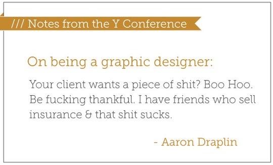 on being a graphic designer...