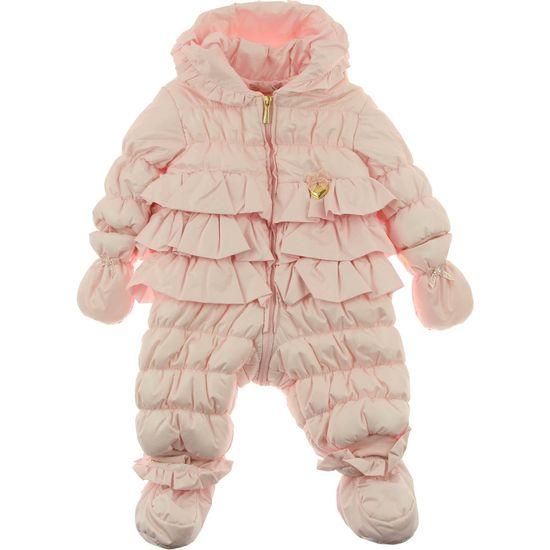 Miss Blumarine Baby Girls Pink Ruffle Snowsuit