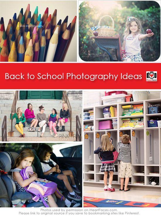 Back to School Photography Ideas via iHeartFaces.com