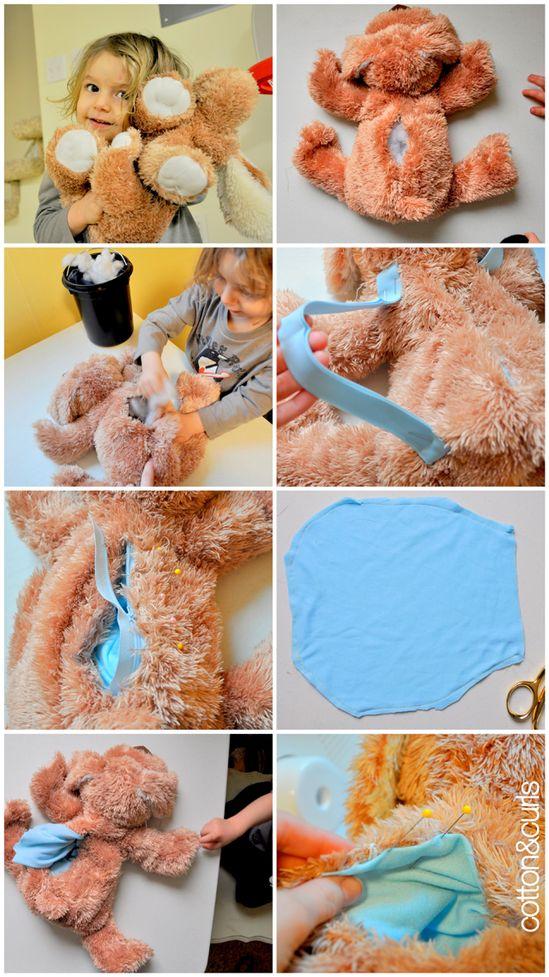 Stuffed animal backpack DIY