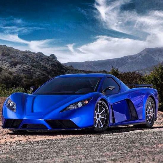 """Kepler """"blue"""" Motion Hybrid Supercar hot!"""