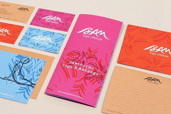 Graphic Designer // Emma Brownson [BAM Yoga Lifestyle branding, logo, flyer, brochure, postcard, graphic design,]