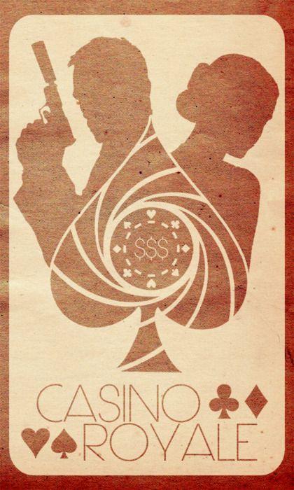 James Bond, Casino Royale minimalist movie poster