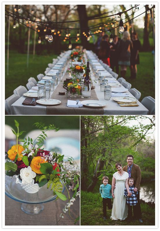 Garden party - table and lights