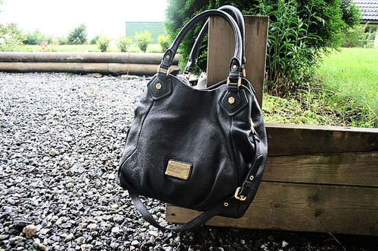 Marc Jacobs black leather bag...